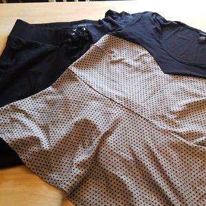 Torrid size 2 crop legging and peplum top set